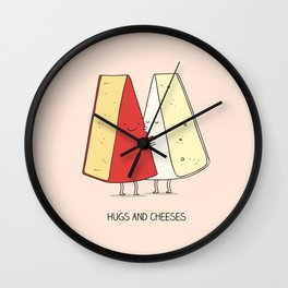 Hugs and cheeses Wall Clock