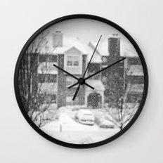 Flakes Falling Wall Clock