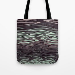 Ripples Fractal in Mint Hot Chocolate Tote Bag