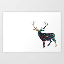 Deer abstract Art Print