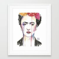 frida Framed Art Prints featuring Frida by SirScm
