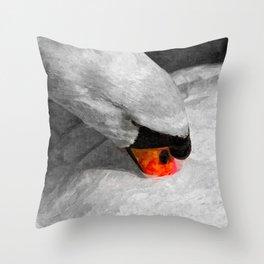 The Proud Swan Art Throw Pillow