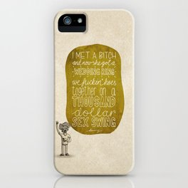 Danny Brown; What Rappers Say Series 3/8 iPhone Case