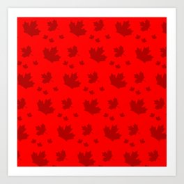 Canada Maple Leaf-Large-Red Art Print