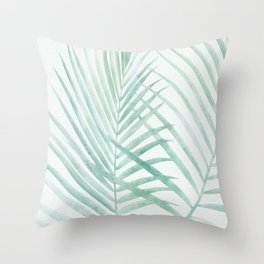 Cool Minty Tropics Throw Pillow
