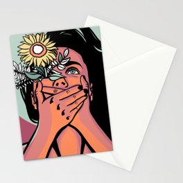 What your mouth won't say when your eyes can't seem to shut up Stationery Cards