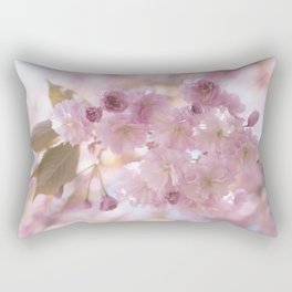 Pink Spring Cherry Blossom Rectangular Pillow