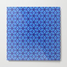 Sharp Blue Petals Metal Print
