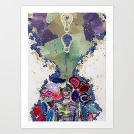 Brainstorm In Negative Art Print
