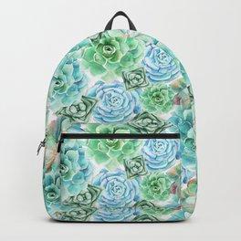 Mint Green Succulents Backpack