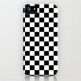 Black White modern Checks iPhone Case