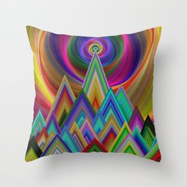 Summer Night at the Mountains Throw Pillow