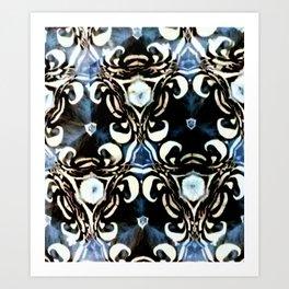 MODERN MOROCCAN BLUE Art Print