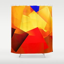 Heat over city ... Shower Curtain