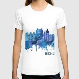 Bengaluru Karnataka Skyline Blue T-shirt
