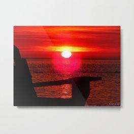 Sun Melts into the Sea Metal Print