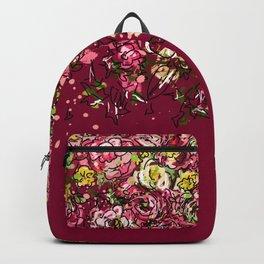 Purple drooping flowers Backpack