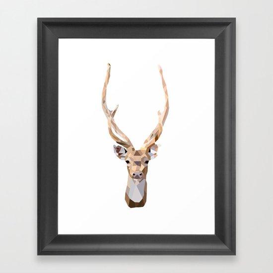 Geo Deer Framed Art Print