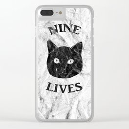 Nine Lives Clear iPhone Case