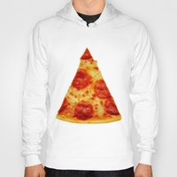 pizza Hoodies featuring PIZZA by @thecultureofme