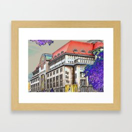 Shopping in Berlin Framed Art Print