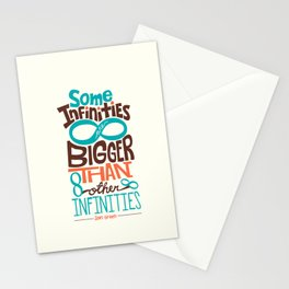 Some Infinities Are Bigger Than Other Infinities Stationery Cards