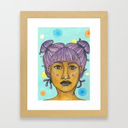 purple buns Framed Art Print