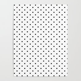 Minimal - Small black polka dots on white - Mix & Match with Simplicty of life Poster