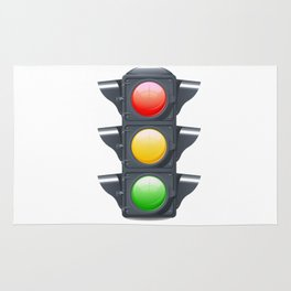 Traffic Lights Realistic Rug