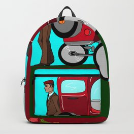 A Man and his Vintage Car Backpack