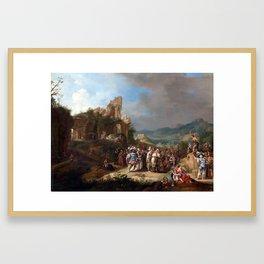 Bartholomeus Breenbergh The Preaching of John Framed Art Print