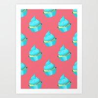 cupcake Art Prints featuring Cupcake by tiffato3