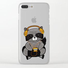 three wise raccoon music Clear iPhone Case