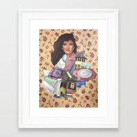 charmaine olivia Framed Art Prints featuring Olivia by Mel Coleman