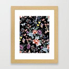 French Butterfly Black Framed Art Print