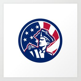 American Patriot USA Flag Icon Art Print