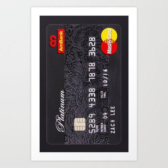 CREDIT CARD Art Print
