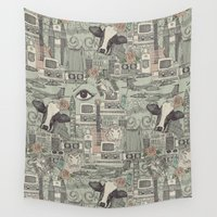 airplanes Wall Tapestries featuring Dolly et al by Sharon Turner