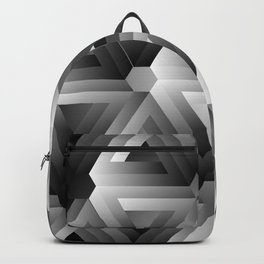 Monochrome penrose triangles Backpack