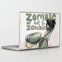 shakespeare Laptop & iPad Skins featuring Zombie + Shakespeare by Stephane Lauzon