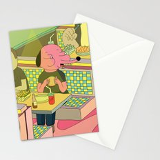 eating at johnny´s Stationery Cards