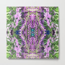 302 - Abstract Lilac Design Metal Print