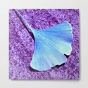 blue ginkgo leaf IX by blackpool