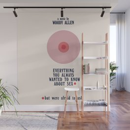 Woody Allen minimalist movie poster, alternative playbill, everything you wanted to know about sex Wall Mural