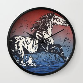 When You Pass Through the Waters Wall Clock