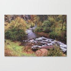 Fall dreams. Retro autumn Canvas Print