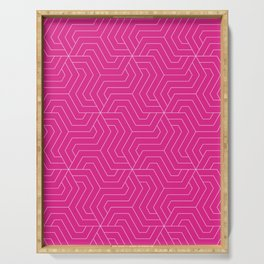 Barbie Pink (Pantone) - pink - Modern Vector Seamless Pattern Serving Tray