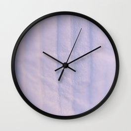 Crumpled Lines on Lilac Paper Texture Wall Clock