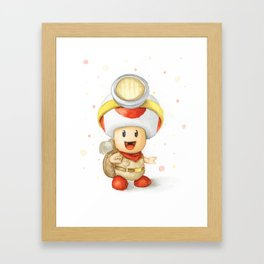 Captain Toad Framed Art Print