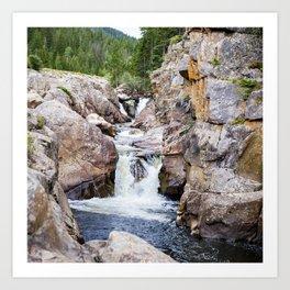 Poudre River Canyon, Colorado Art Print